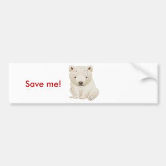 Cute and Cuddly Baby Polar Bear Car Bumper Sticker