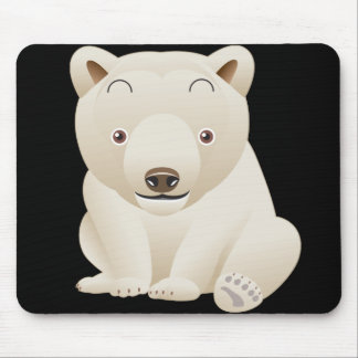 Cute and Cuddly Baby Polar Bear Mouse Pad