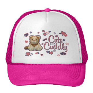 Cute and Cuddly Lion Trucker Hat