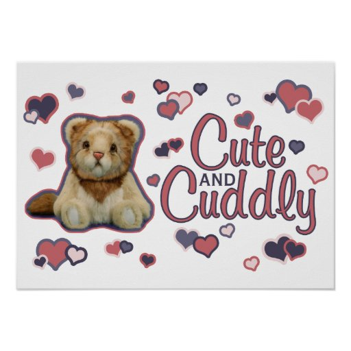 Cute and Cuddly Lion Poster