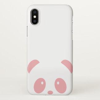 Cute and Cuddly Pink Panda iPhone X Phone Case