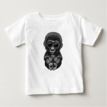 Cute and Curious Baby Gorilla Baby T-Shirt