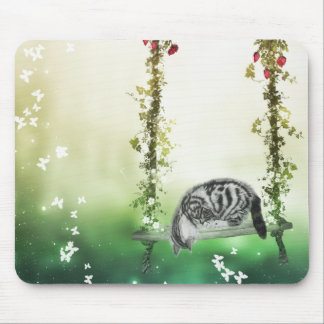 Cute and Curious kitten Mouse Pad