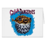 Cute And Dangerous Puffer Fish Blue Greeting Card