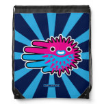 Hand shaped Cute And Deadly Puffer Fish Drawstring Bag