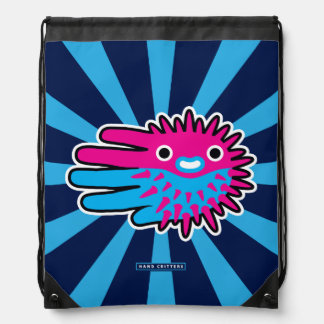 Cute And Deadly Puffer Fish Cinch Bag