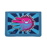 Hand shaped Cute And Deadly Puffer Fish Trifold Wallets