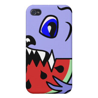 Cute and Fluffy Toothy Monster Iphone4 Case iPhone 4/4S Covers
