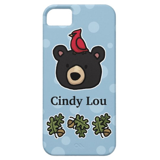 Cute and Friendly Bear Face, Add Your Name iPhone SE/5/5s Case