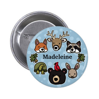 Cute and Friendly Forest Animals, Add Child's Name Button