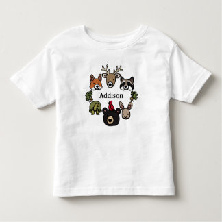 Cute and Friendly Forest Animals, Add Child's Name Shirts