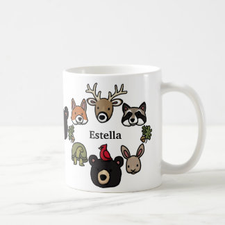 Cute and Friendly Forest Animals, Add Your Name Mugs