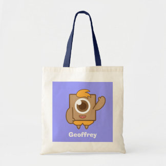 Cute and friendly one eyed monster tote bag