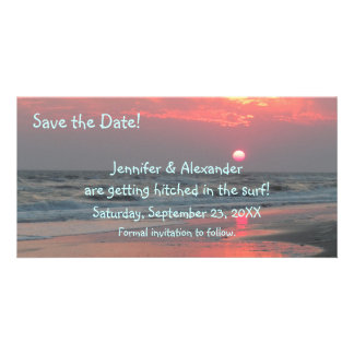 Cute and Fun Beach Wedding Save the Date Card