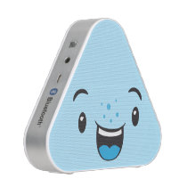 Cute and fun Blue Smiling Kawaii Face Speaker