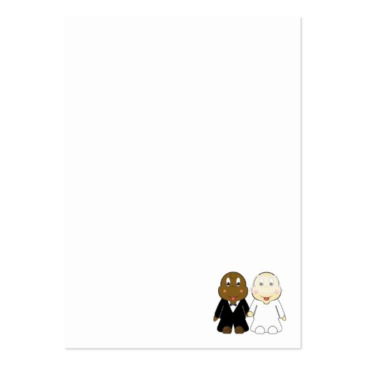 Cute and Fun Bride and Groom Cartoon Business Cards