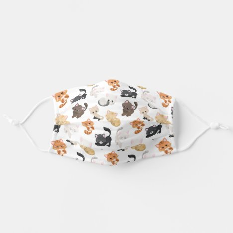 Cute and Fun Kittens and Cats Pattern Cloth Face Mask