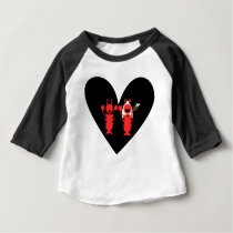 Cute and Fun Lobster Wedding Baby T-Shirt