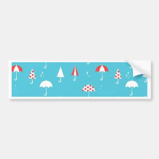 Cute and fun umbrella pattern bumper sticker