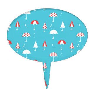 Cute and fun umbrella pattern cake picks