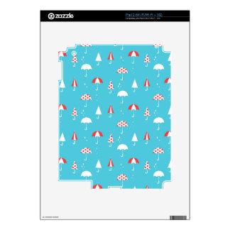 Cute and fun umbrella pattern iPad 2 decal