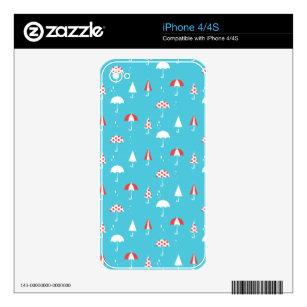 Cute and fun umbrella pattern iPhone 4 skin