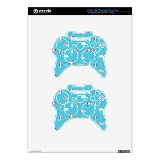 Cute and fun umbrella pattern xbox 360 controller skins