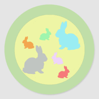 Cute And Funky Bunny Rabbit Sticker
