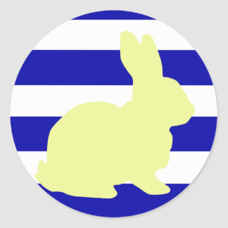 Cute And Funky Bunny Rabbit Stripes Sticker