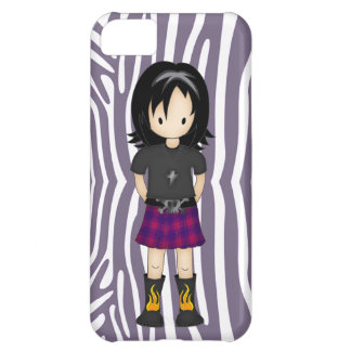 Cute and Funky Little Emo or Goth Girl Cartoon iPhone 5C Covers