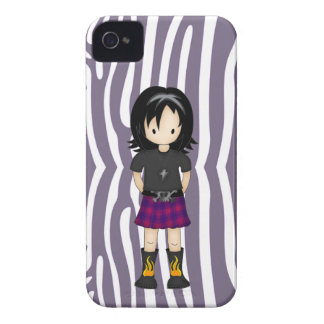 Cute and Funky Little Emo or Goth Girl Cartoon Blackberry Bold Case