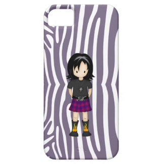 Cute and Funky Little Emo or Goth Girl Cartoon iPhone 5 Cases