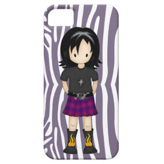 Cute and Funky Little Emo or Goth Girl Cartoon iPhone 5 Cover
