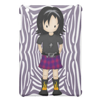 Cute and Funky Little Emo or Goth Girl Cartoon Case For The iPad Mini