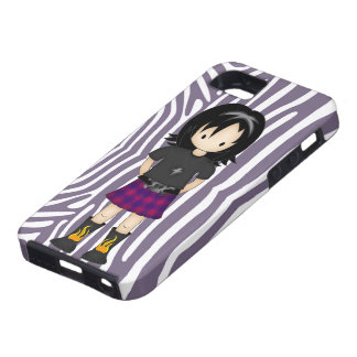 Cute and Funky Little Emo or Goth Girl Cartoon iPhone SE/5/5s Case