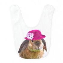 Cute and funny animal bunny rabbit baby bib