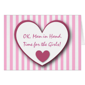 Cute and Funny Be My Bridemaid PINK STRIPES V01 Card