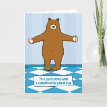 Cute and Funny Bear Hug Anniversary Card