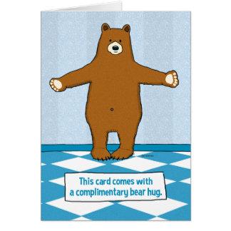 Cute and Funny Bear Hug Anniversary Card