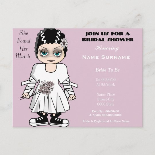 cute and funny bridal shower invitation