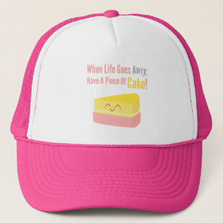 Cute and Funny Cake Life Quote Trucker Hat