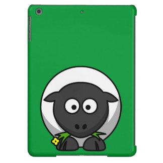 Cute and Funny Cartoon Sheep on Green Background iPad Air Case