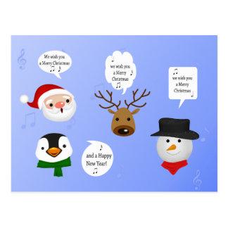 Cute and Funny Christmas - Postcard