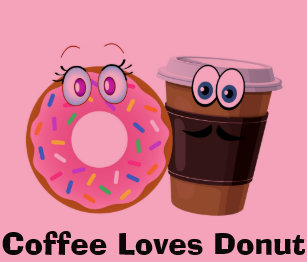36494e674 Cute and funny coffee loves donut baby Bodysuit Baby Bodysuit