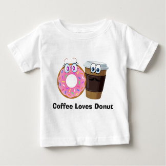 Cute and funny coffee loves donut baby tshirt baby T-Shirt