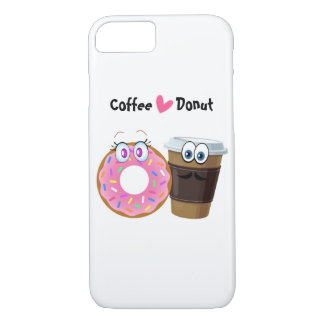 Cute and funny coffee loves donut mobile case