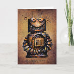 Cute and Funny Custom Kid's Robot Happy Birthday Card