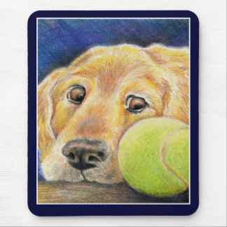 Cute and funny Golden Retriever Mouse Pad