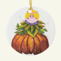 Cute and Funny Halloween Ceramic Ornament
