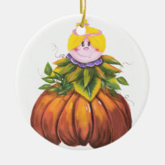 Cute And Funny Halloween Ceramic Ornament at Zazzle